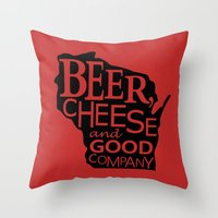 Red And Black Beer, Chee… Throw Pillow