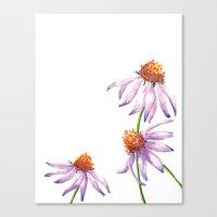 Watercolor Purple Cone F… Canvas Print