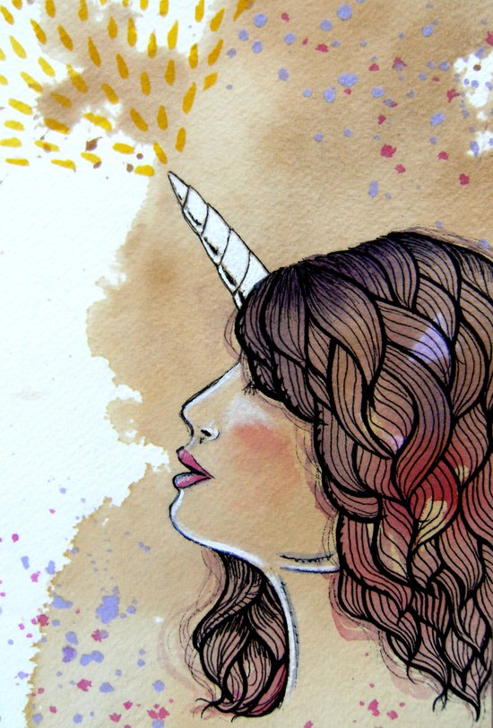 unicorn girl Canvas Print