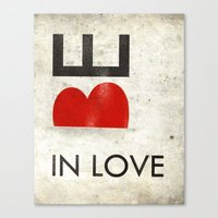 BE IN LOVE Canvas Print