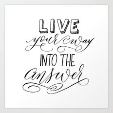 Rilke Quote Art Print