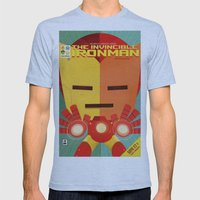 ironman fan art Mens Fitted Tee Athletic Blue SMALL