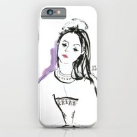 Mary - Girl in Marker and Gouache iPhone 6 Slim Case