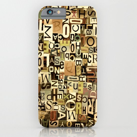 Alphabet iPhone & iPod Case