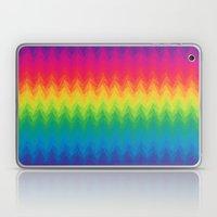 Neon Rainbow Feather Che… Laptop & iPad Skin