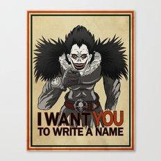 Write a name. Canvas Print