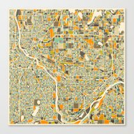 Twin Cities MAP Canvas Print