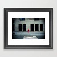 Manhattan Street Minimal… Framed Art Print