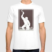Farmer Harvesting Wheat … Mens Fitted Tee White SMALL