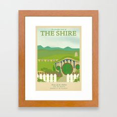 Retro Travel Poster Series - The Lord of the Rings - The Shire Framed Art Print
