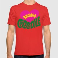 Banana Love And The Croc… Mens Fitted Tee Red SMALL