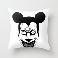 Maniac Mickey Throw Pillow