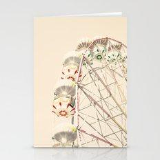 Red Ferris Wheel on Cream Sky  Stationery Cards