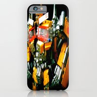iPhone & iPod Case featuring The Golden Optimus by kyleray3000