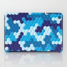 CUBOUFLAGE BLUE iPad Case