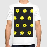 lazy eye Mens Fitted Tee White SMALL