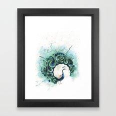 Circle Peacock Framed Art Print
