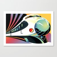 Japanese High Speed Trai… Canvas Print