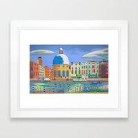 Ordinary Day In Venice Framed Art Print