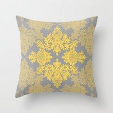 Golden Folk - Doodle Pat… Throw Pillow