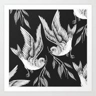 Miuotti Birds Art Print