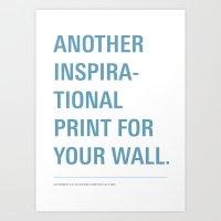 Inspiration. Art Print