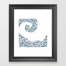 Whale Wave.  Framed Art Print