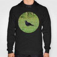 crow on the green Hoody