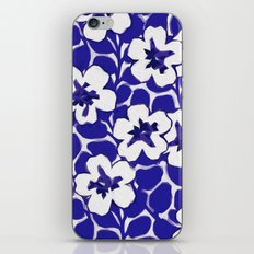Painted Floral (Blue) iPhone & iPod Skin
