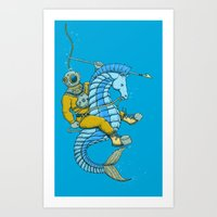 Deep Sea Hunting Art Print