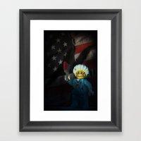 American Psycho In LEGO Framed Art Print