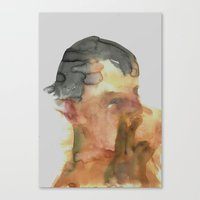 His Profile Canvas Print