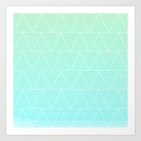 Mint Heaven Triangles Art Print
