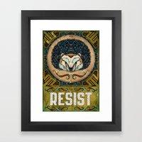 Resist Framed Art Print