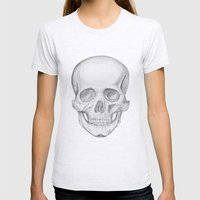 Skull Womens Fitted Tee Ash Grey SMALL