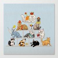 Cats Pyramid Canvas Print