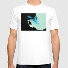 Surfing Mens Fitted Tee White SMALL