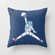 Space Dunk Throw Pillow