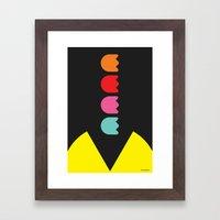 PACMAN ARGGG Framed Art Print