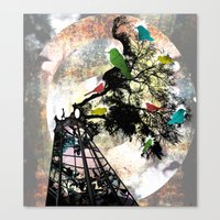 Life In A Cage Canvas Print