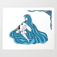 Aquarius / 12 Signs Of T… Art Print