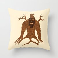 Tree Stitch Monster Throw Pillow