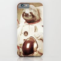 iPhone Cases featuring Sloth Astronaut by Bakus