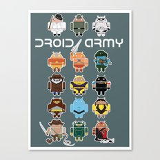 DroidArmy: Maclac Squadron Canvas Print