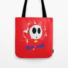 Red Shy Guy Splattery Design Tote Bag