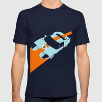 Orange Notch - Ford GT40… Mens Fitted Tee Navy SMALL