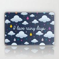 I Love Rainy Days Laptop & iPad Skin