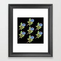 Wild Maine Blueberries Allover Print Framed Art Print