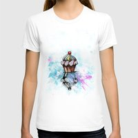 ColorCake Womens Fitted Tee White SMALL