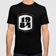 Fine Aged 1984 - Light SMALL Mens Fitted Tee Black